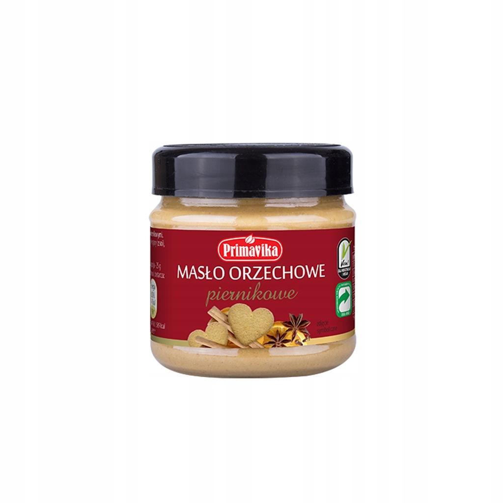 Masło orzechowe piernikowe 185 g [6szt] PRIMAVIKA