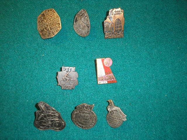 Odznaki turystyczne Szczecińskie 8 szt lata 60 te