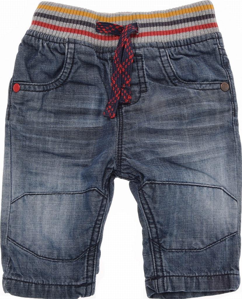 NEXT spodnie jeansowe na Gumie Podszewka 68