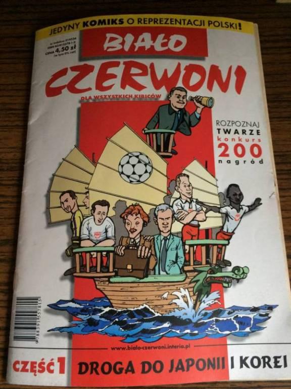 Komiks Biało-Czerwoni Polska PZPN piłka nożna