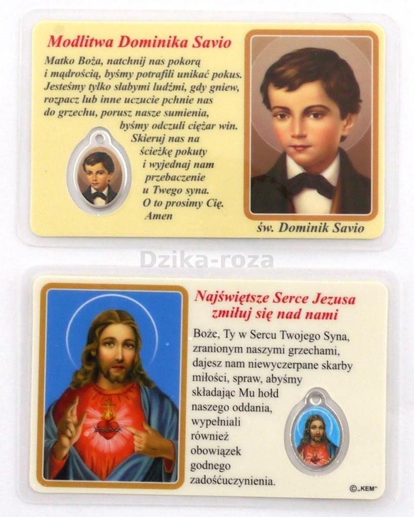 Obrazek Z Medalikiem Modlitwa Sw Dominika Savio 8131524096 Oficjalne Archiwum Allegro