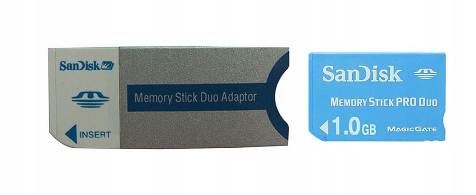 Memory Stick Pro Duo na MS DUO Adapter