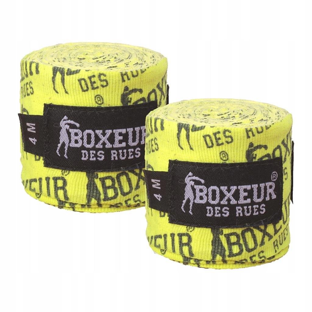 Bandaże Owijki Boxeur des Rues Żółto czarne