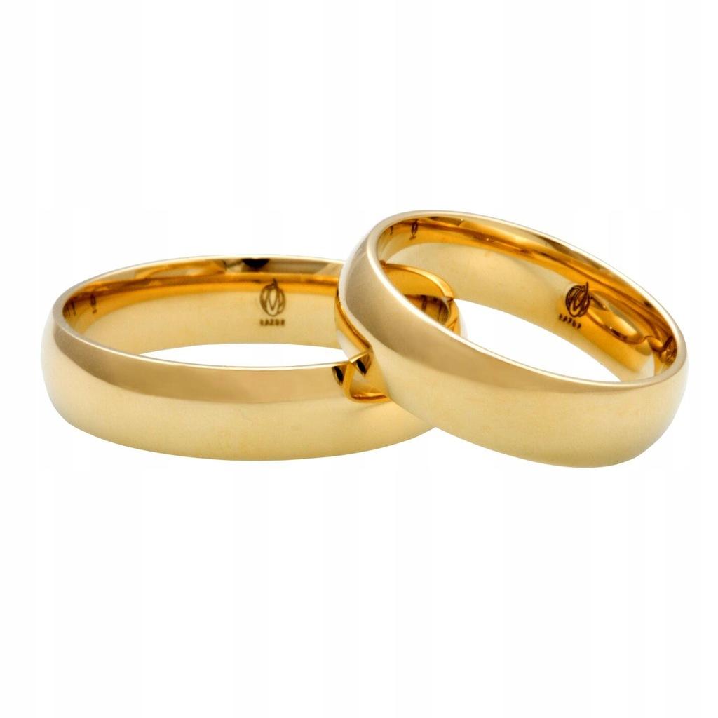 EXPRESS Obrączki złote klasyczne półokrągłe 4 mm