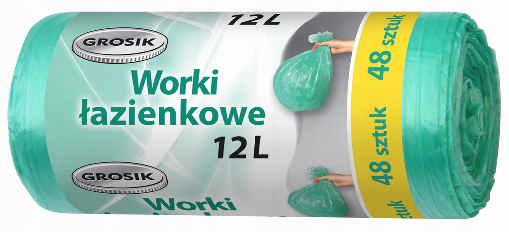 Worki na śmieci łazienkowe GROSIK 12L 48szt