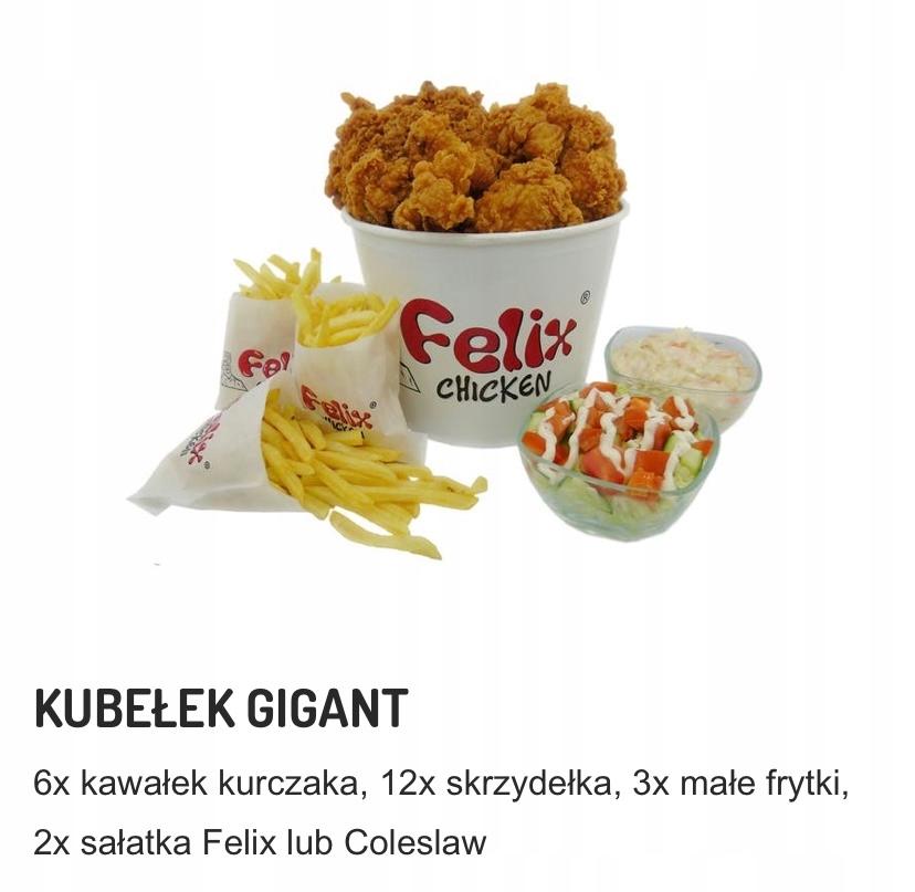 KUBEŁEK GIGANT w Felix Chicken w Myślenicach