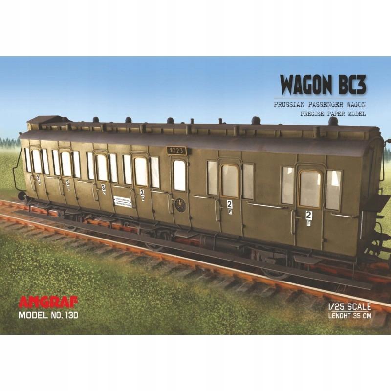 Wagon osobowy BC3 'boczniak', Angraf Model, 1/25