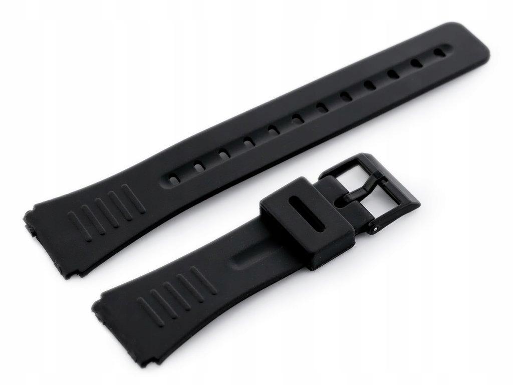 Pasek gumowy do zegarka - model 4 czarny - 22mm