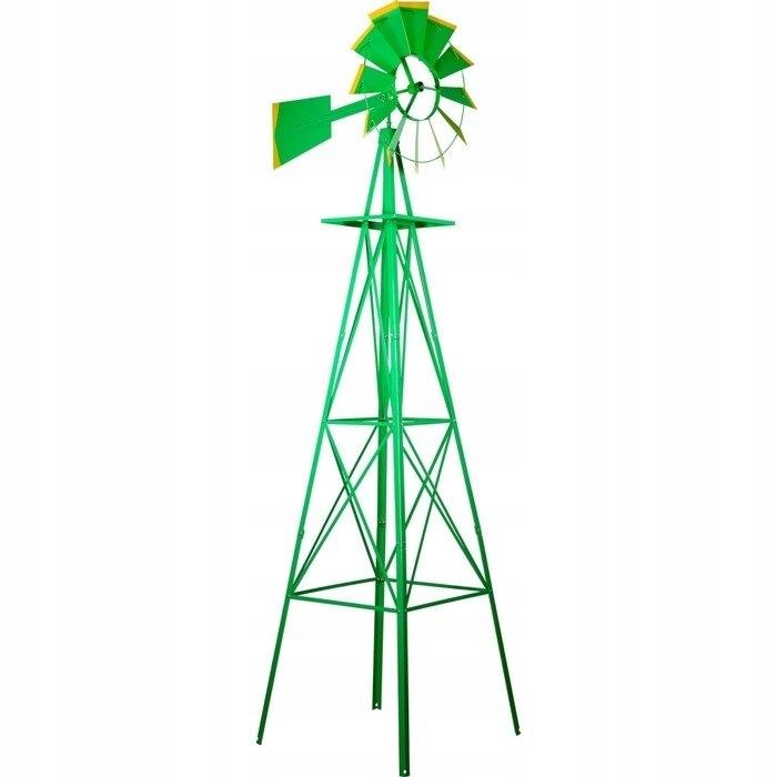 AMERYKAŃSKI DUŻY WIATRAK 245 cm dekoracja zielony