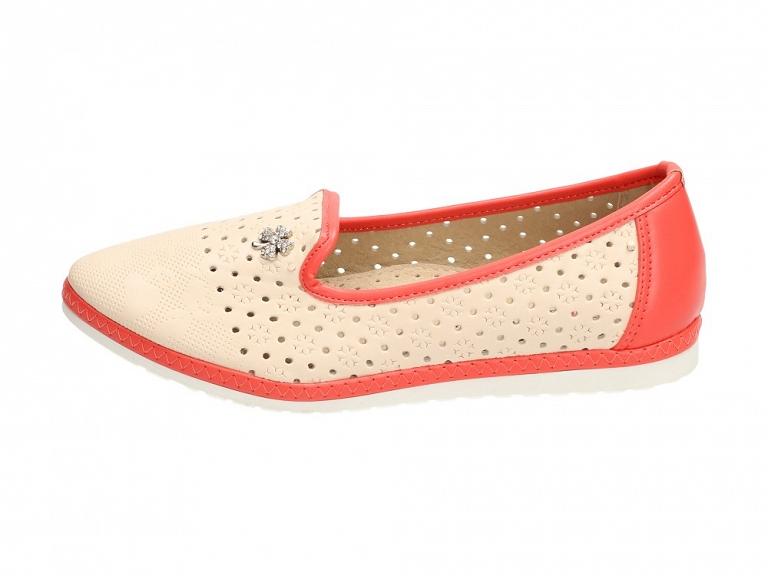 Beżowe balerinki, buty dziecięce BADOXX 491 r33