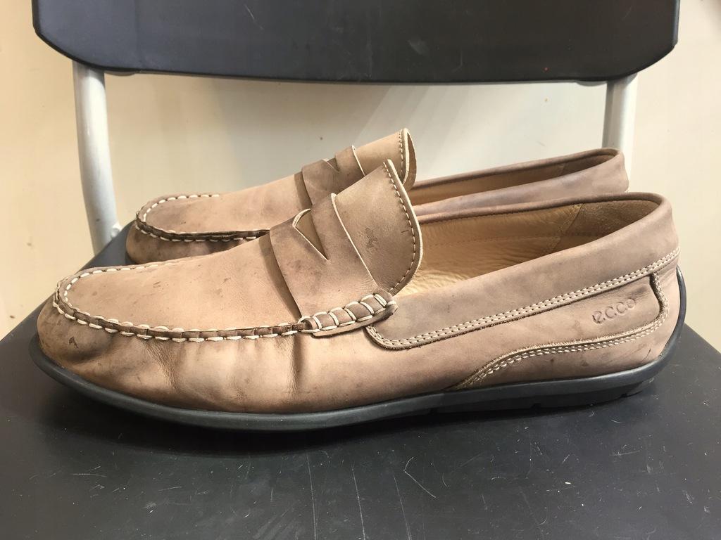 ECCO męskie buty mokasyny skóra rozm.44