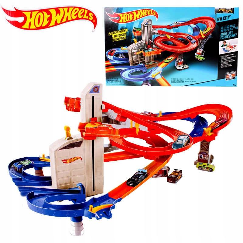 W1635 Hot Wheels Auto Lift Speedway tor z windą