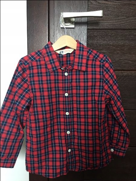 H&M koszula 110 krata święta ideał