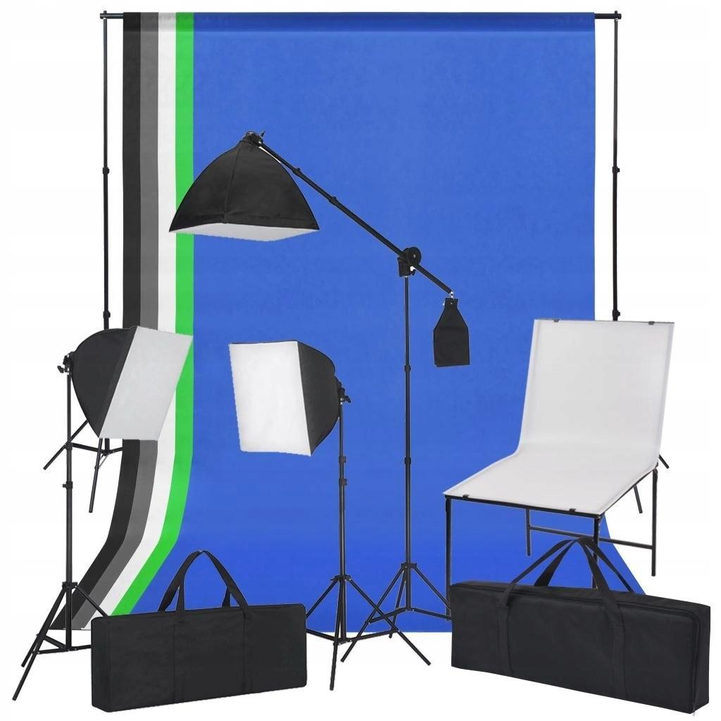Zestaw do studia ze stołem fotograficznym, lampami