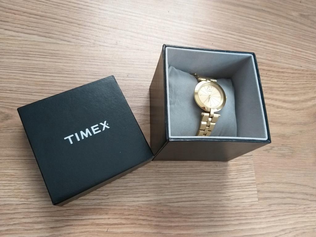 Zegarek damski Timex na bransolecie T2P 548 złoty