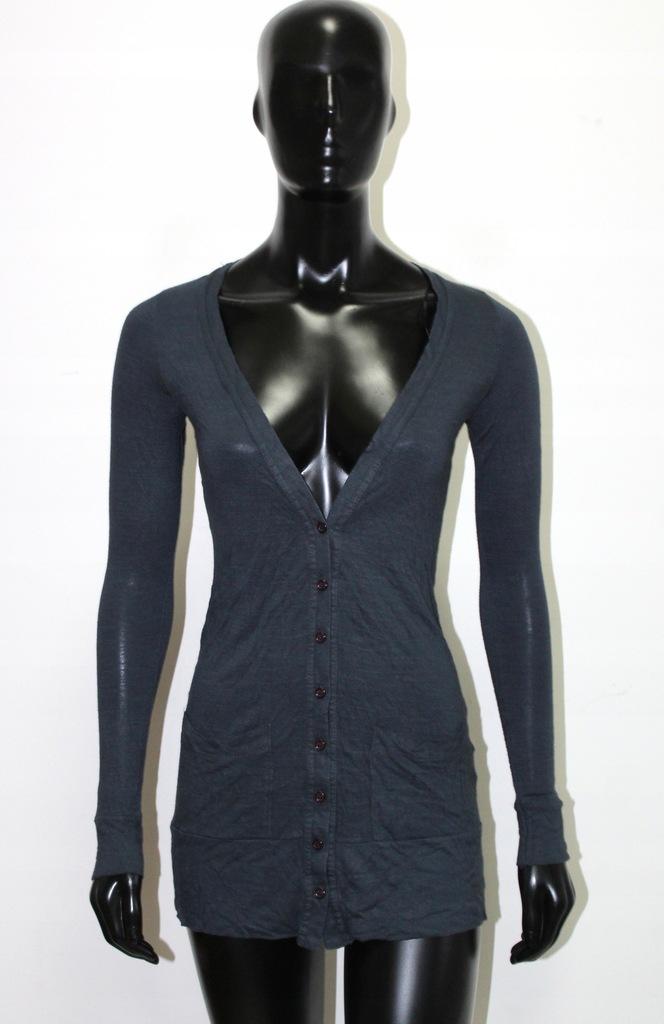 NEW LOOK Granatowy cienki sweter BASIC S 36