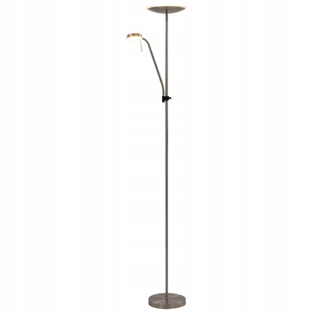 Lampa stojąca, 16 W, srebrna, 180 cm