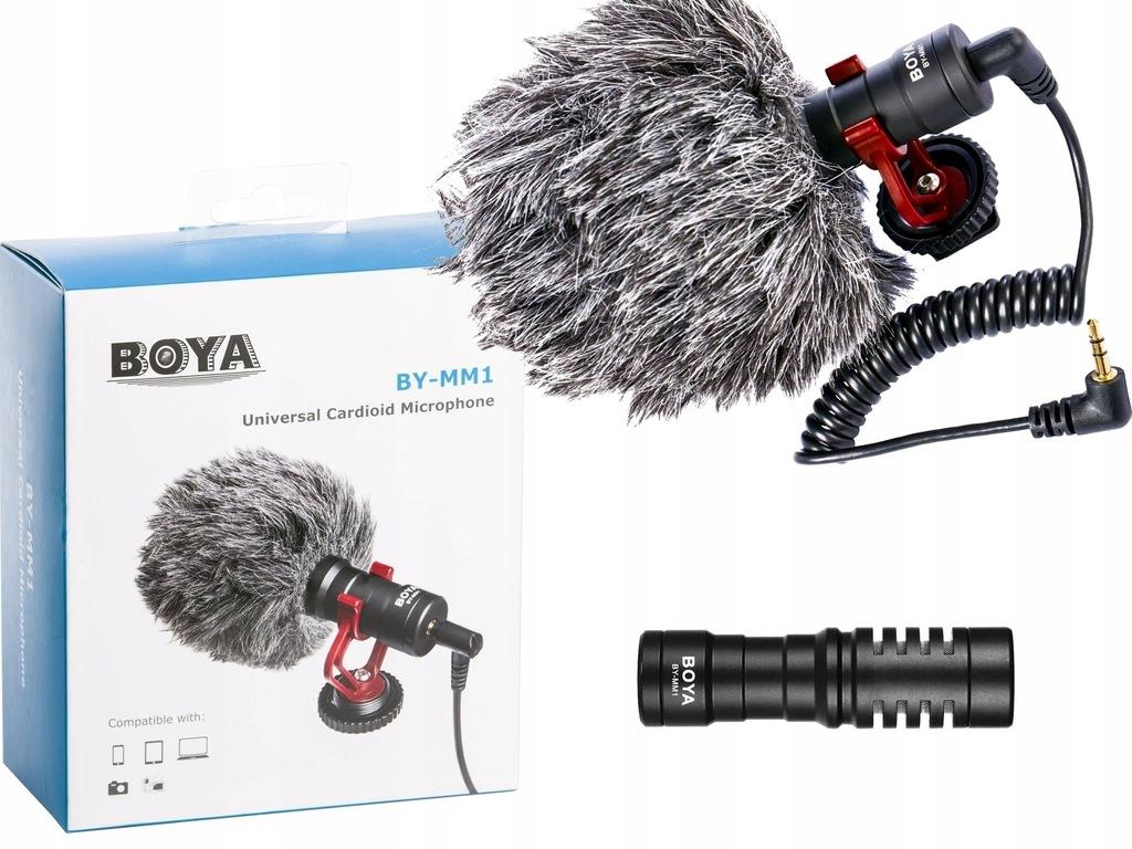 Mikrofon pojemnościowy BOYA BY-MM1 TRS TRRS Androi