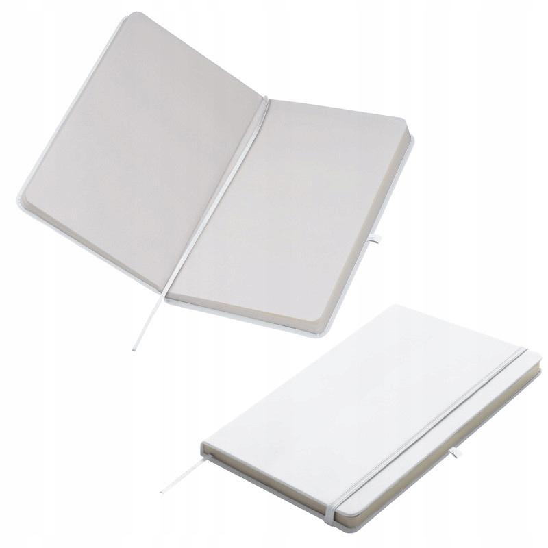 NOTES A5 Z GUMKĄ - biały karton 50szt.