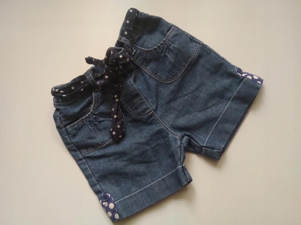 TU krótkie spodenki jeans 86/92