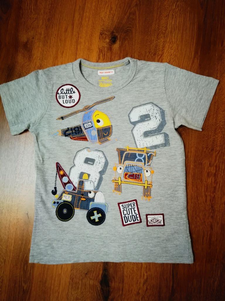 NEXT super t-shirt z pojazdami 116