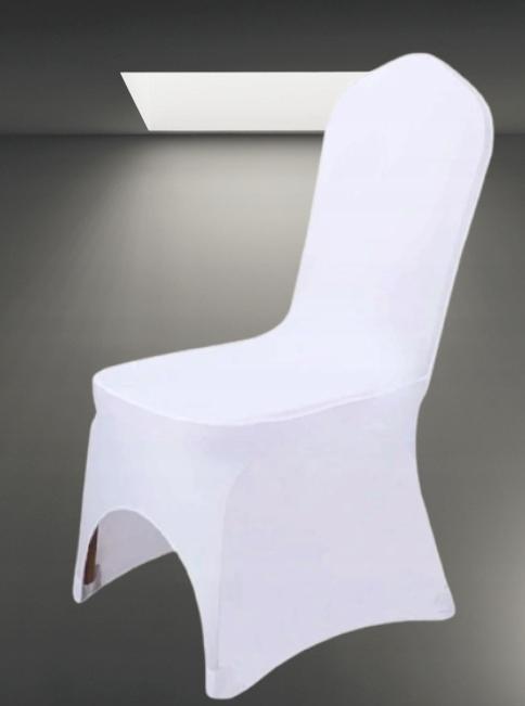 Pokrowiec na krzesła elastyczny - białe 6 szt.