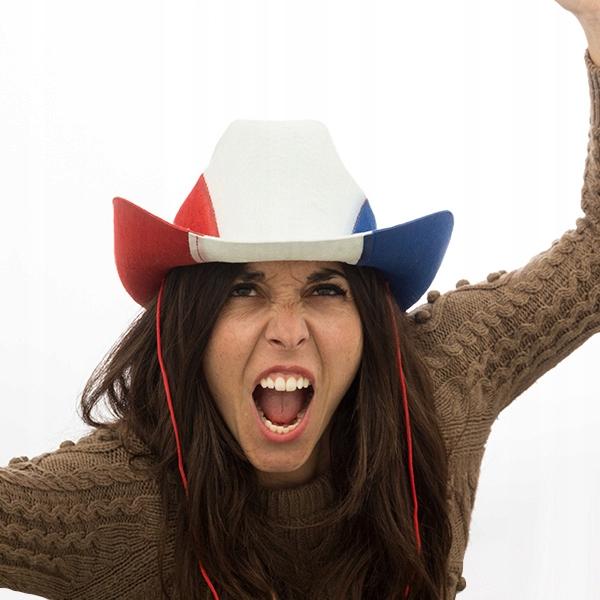 Sombrero de Cowboy Bandera de Francia Th3 Party
