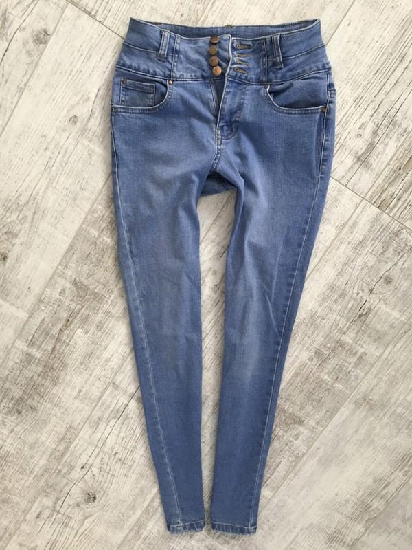 NEW LOOK__HIGH WAIST jeans rurki WYSOKIE__34