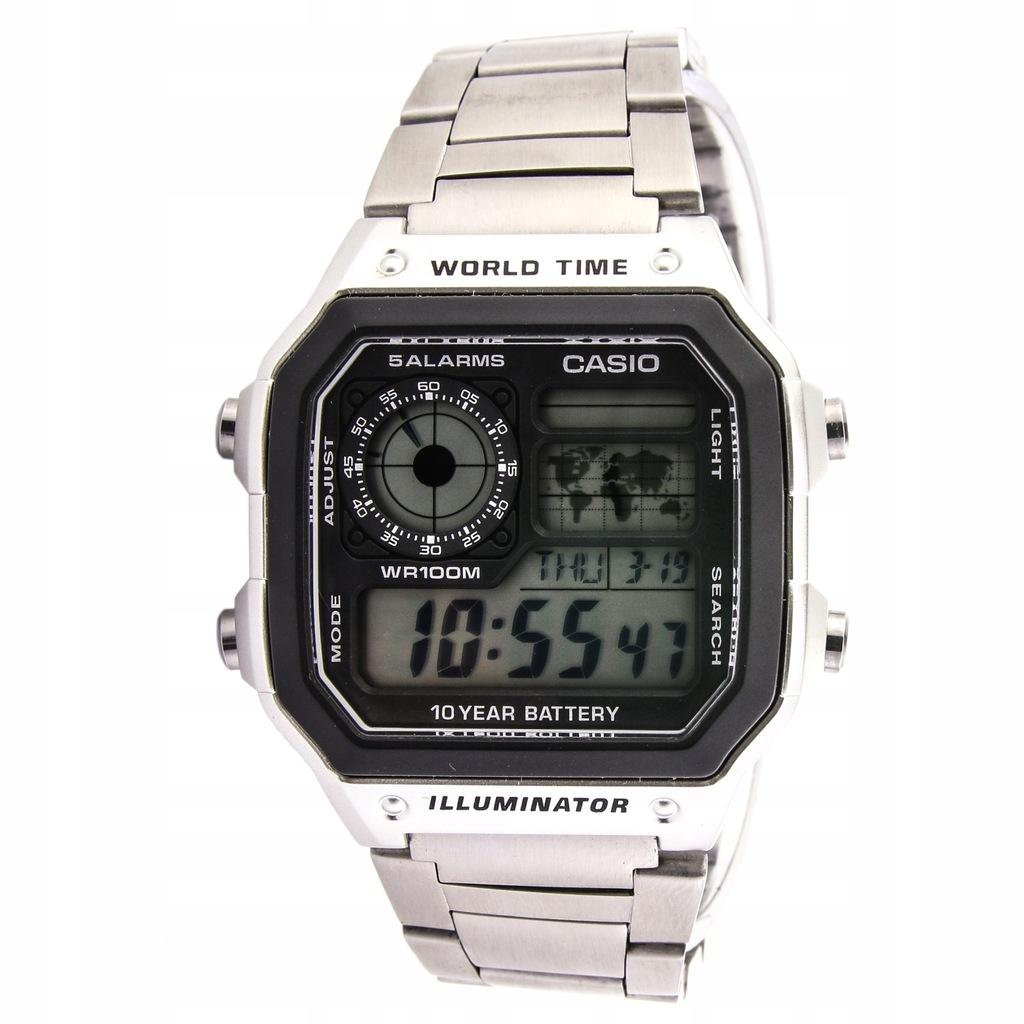 Zegarek CASIO AE-1200WHD-1AVEF męski stoper timer
