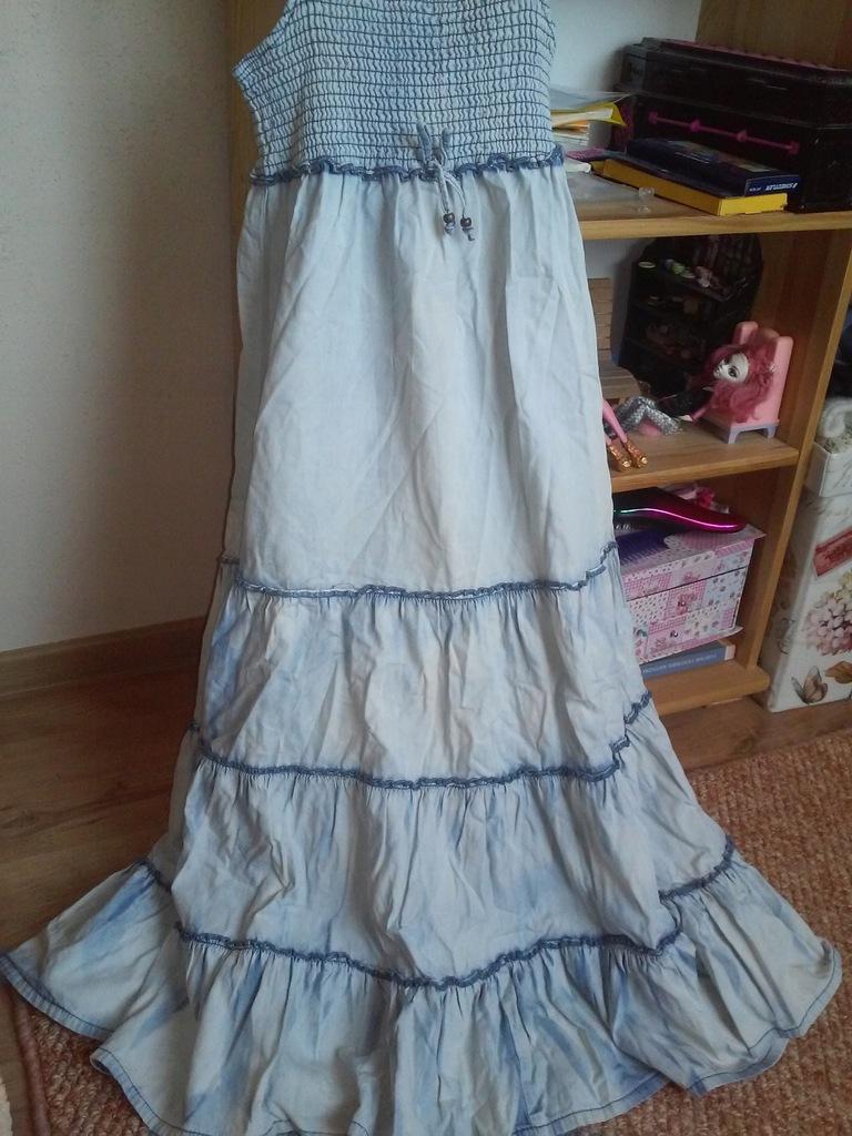 Next sukienka jeans 140