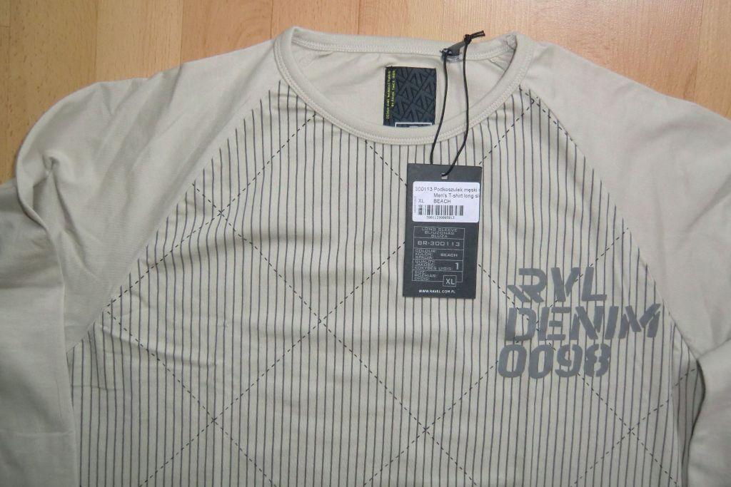 koszulka męska RAVEL, długi rękaw, XL,nowa z metką