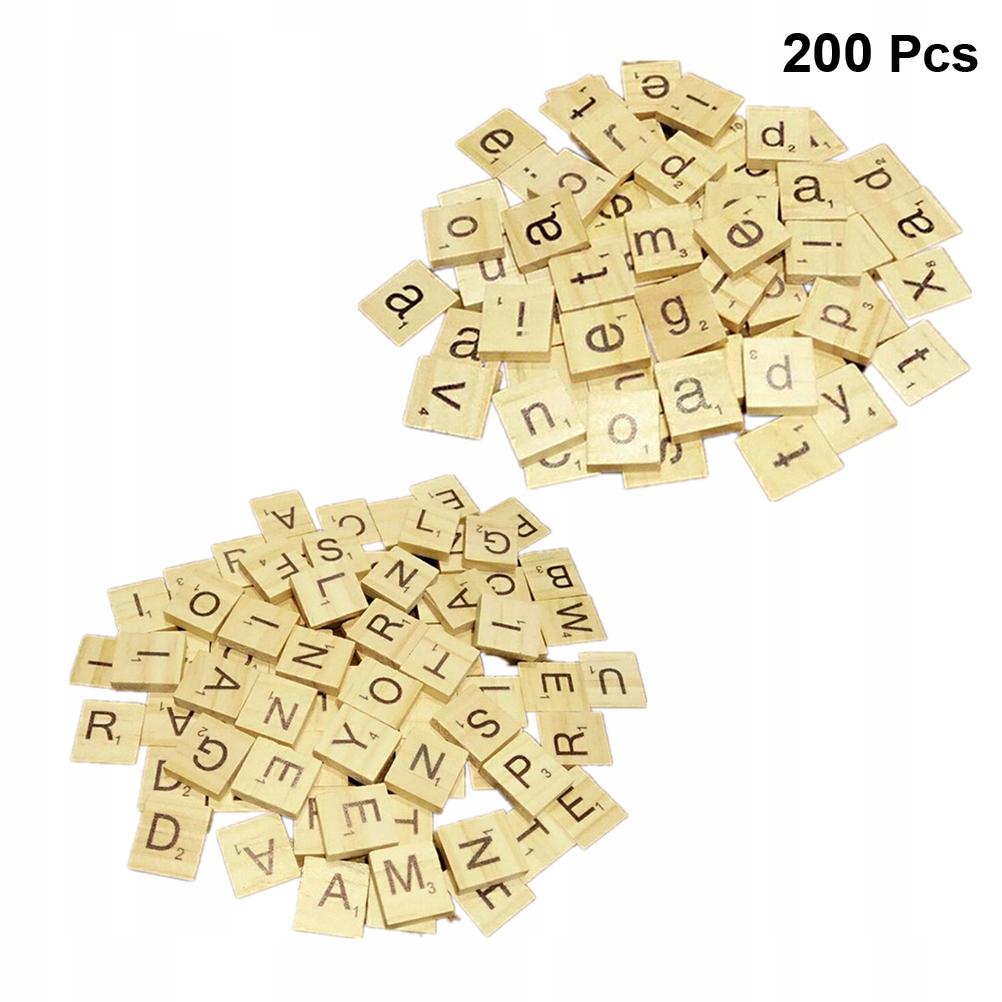1 worek 200 sztuk Drewniane puzzle edukacyjne dla