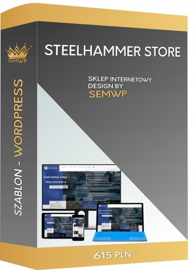 Szablon WordPress Ecommerce STEELHAMMER STORE