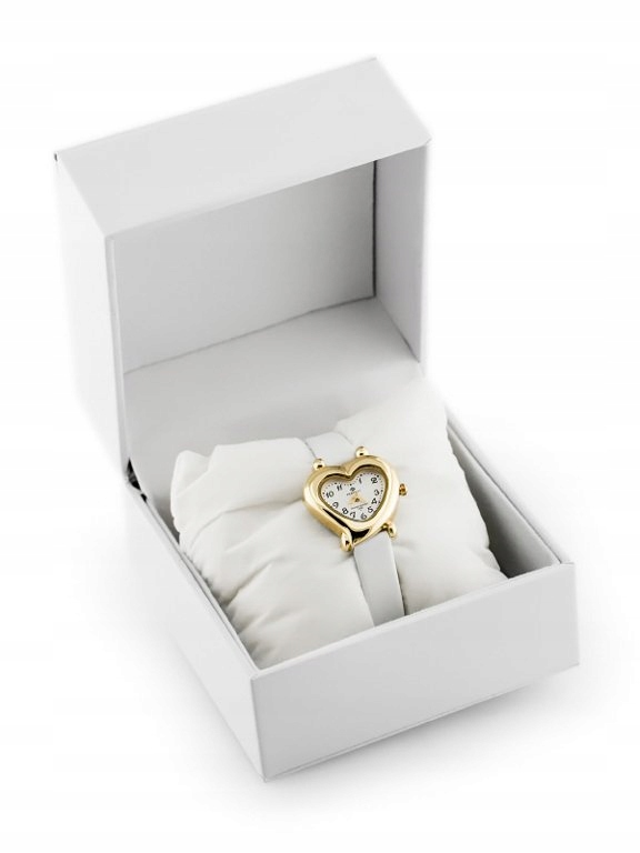 Prezentowe pudełko na zegarek - eko białe