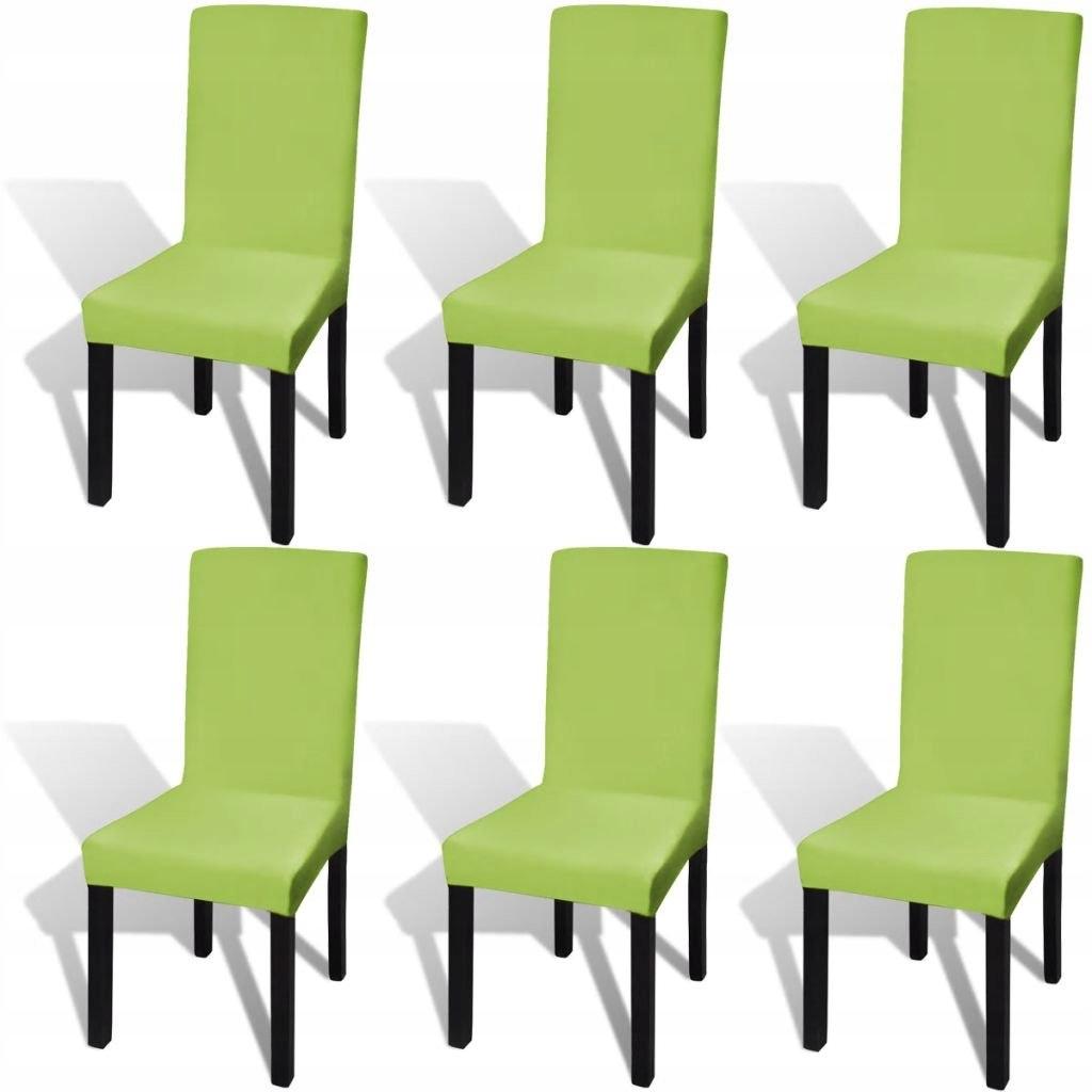 Elastyczne pokrowce na krzesła zielone 6 szt