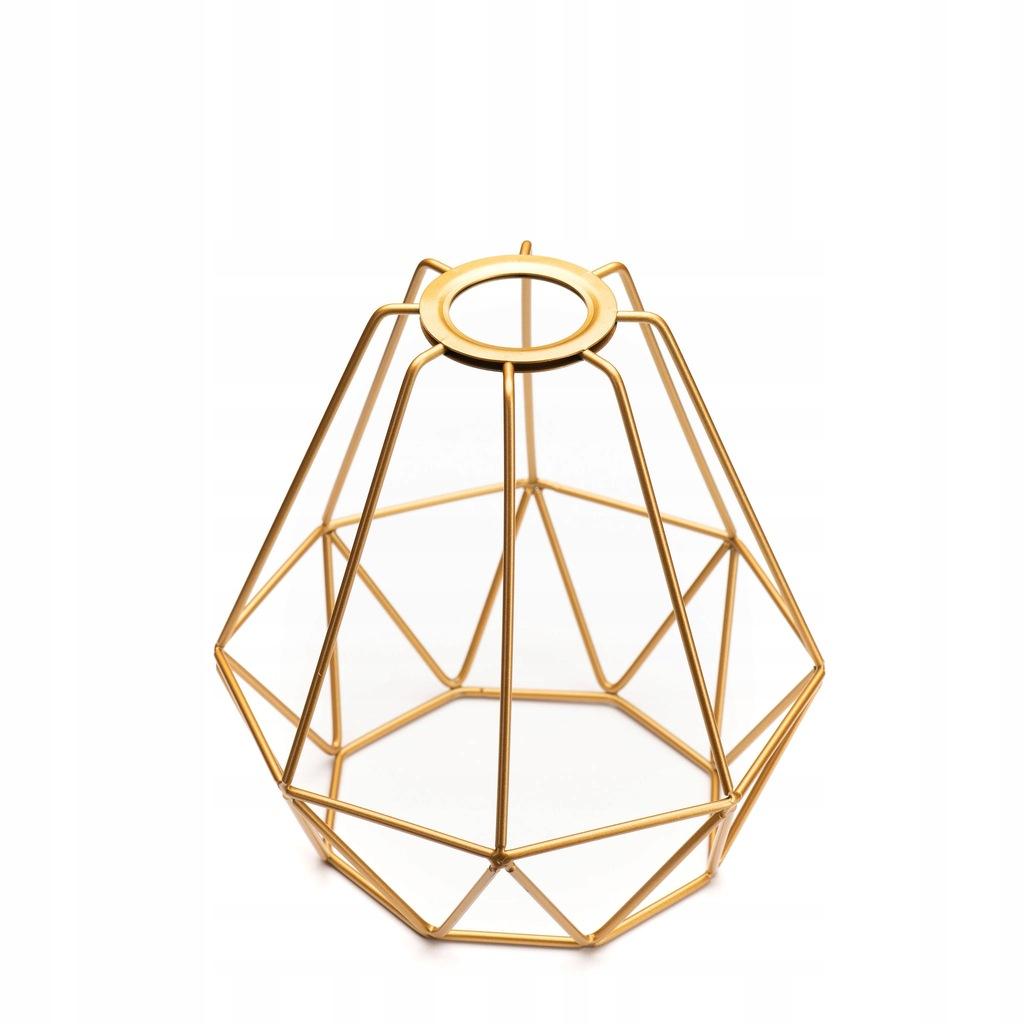 a7804 metalowy klosz do lampy złoty20x18x6,5cm