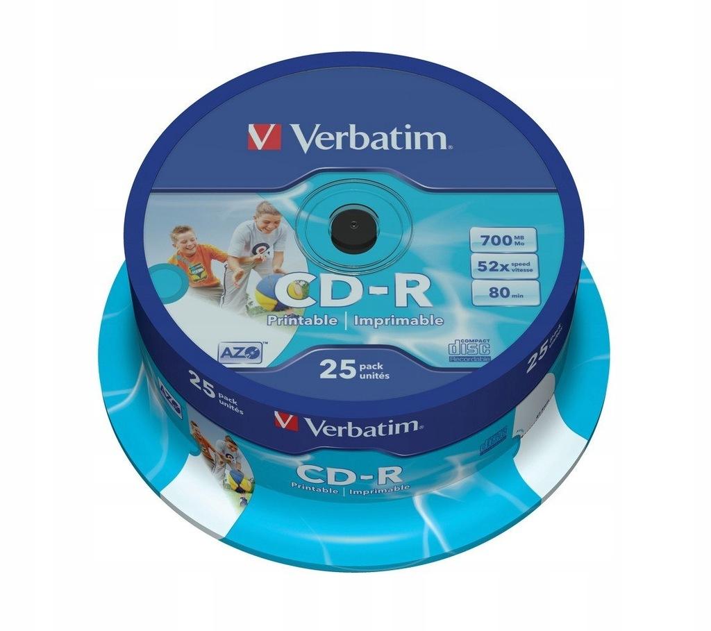 CD-R 52x 700MB 25P CB Printable 43439