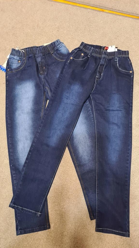 nowe jeansy 2 szt. roz. 164