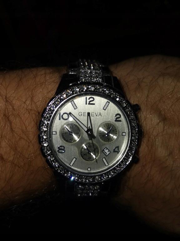 Zegarek Geneva elegancki z cyrkoniami