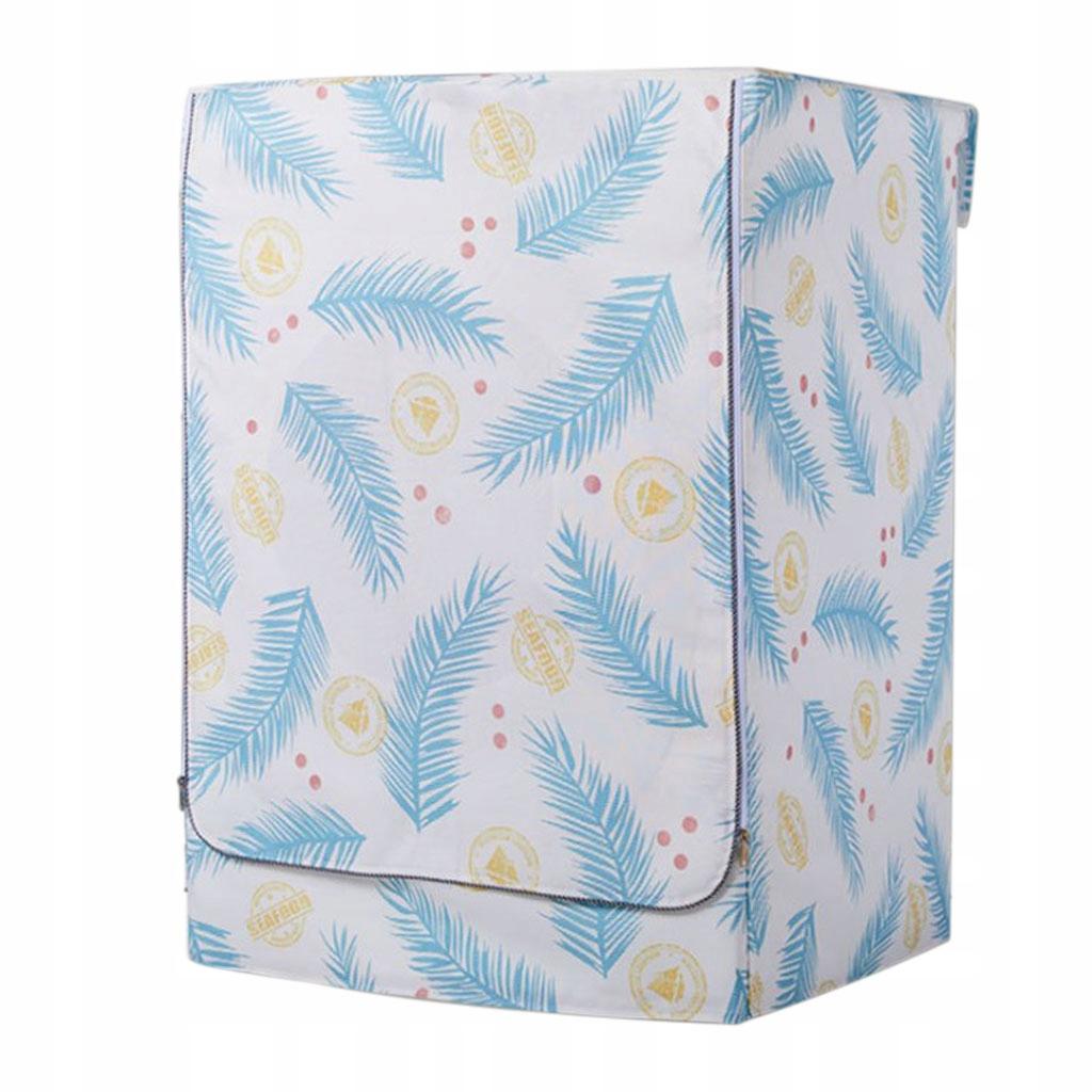 Pokrywa pralki - Niebieskie liście Cycas-XL
