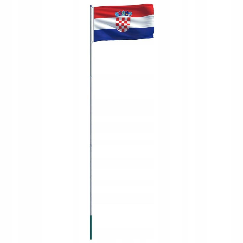 Flaga Chorwacji z aluminiowym masztem, 6 m