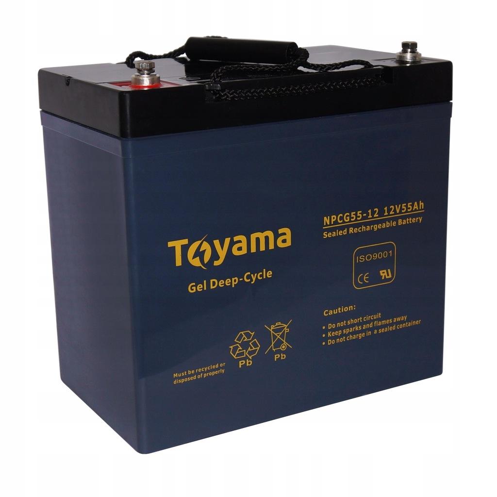 Akumulator żelowy Toyama 55Ah 12V głębokie cykle!