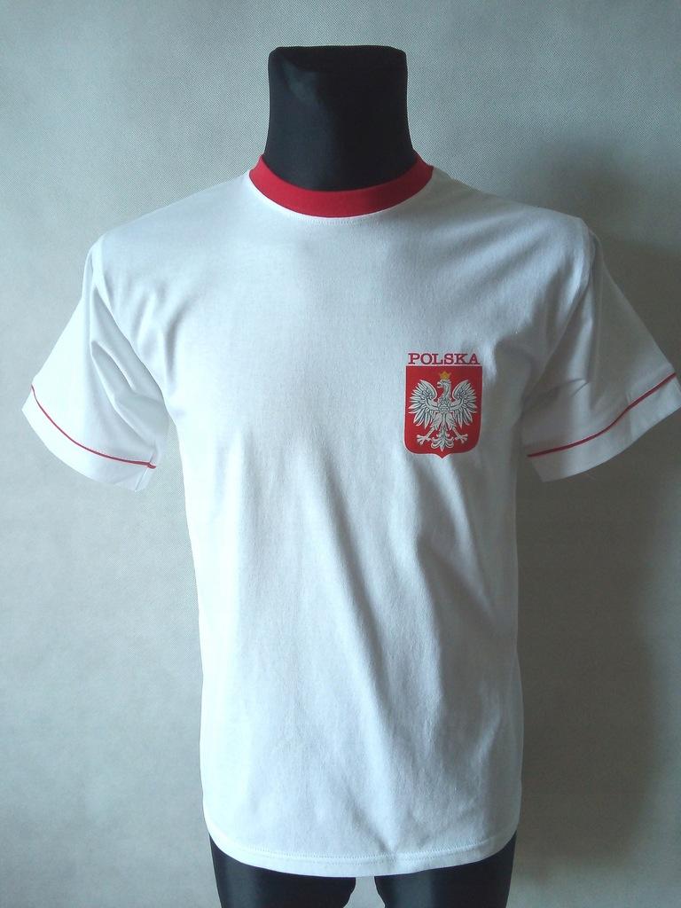 Koszulka POLSKA bawełniana biała XL