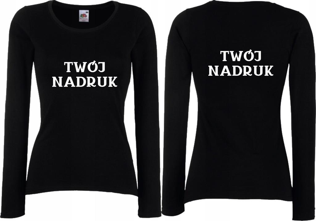 Koszulka Damska Długi Rękaw TWOJE NADRUKI r XS
