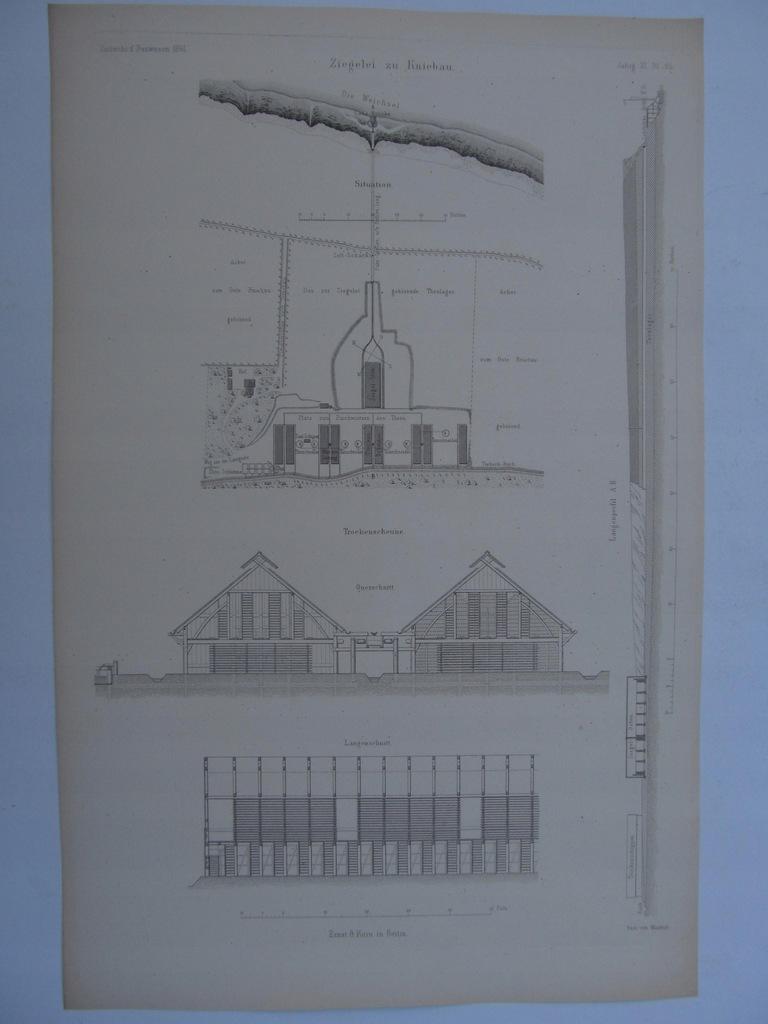 KNYBAWA TCZEW CEGIELNIA plany szkice 1861 r.