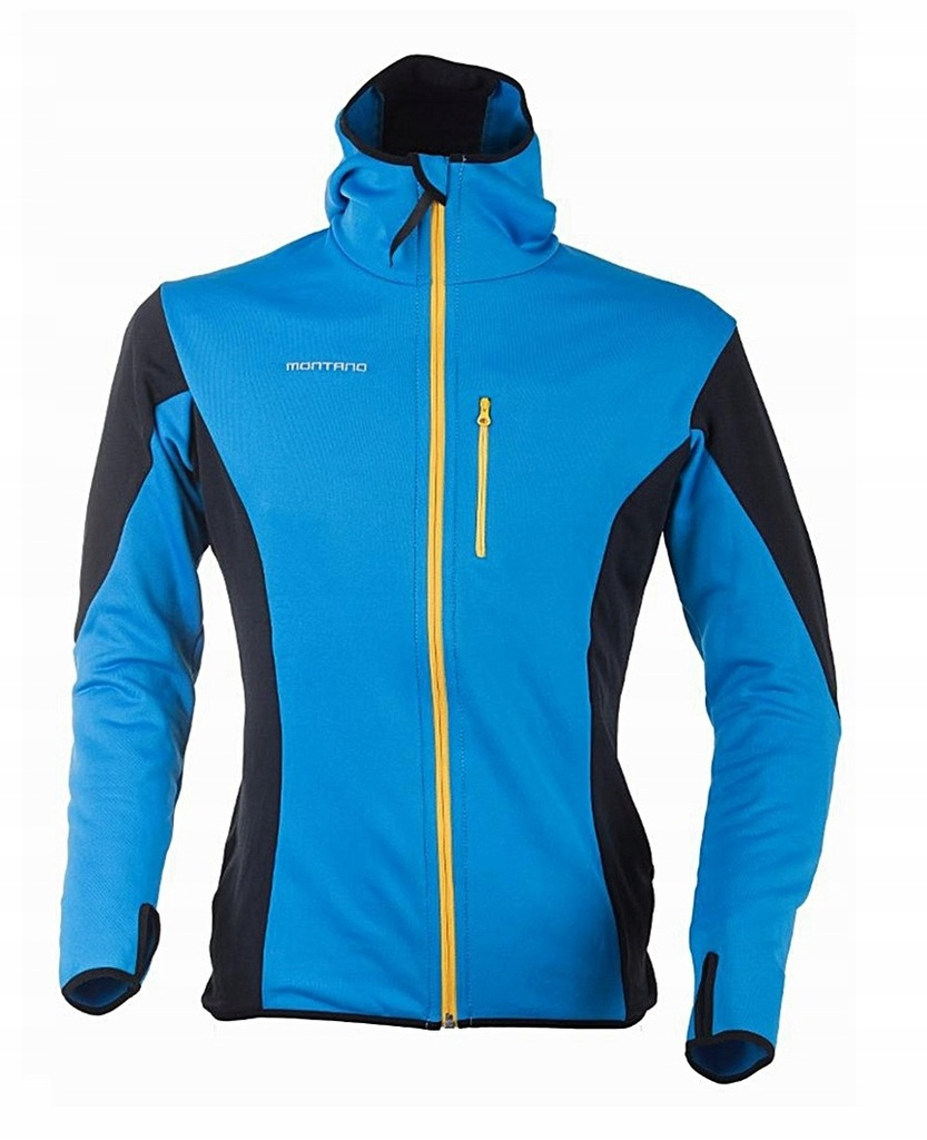 Bluza Cortina stretch kaptur MONTANO niebiesko L