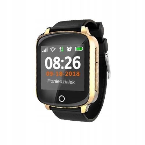 Smartwatch dla Babci Dziadka SOS Karta SIM GPS