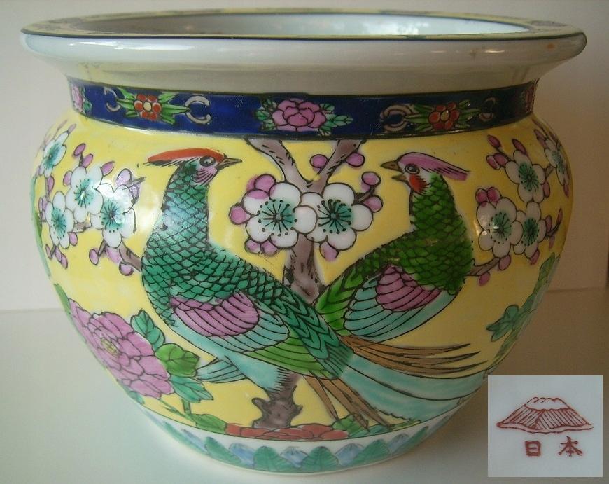 osłonka piękna ręcznie malowana porcelana JAPONIA
