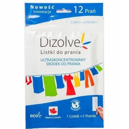Dizolve Listki do prania hipoalergiczne 12 prań