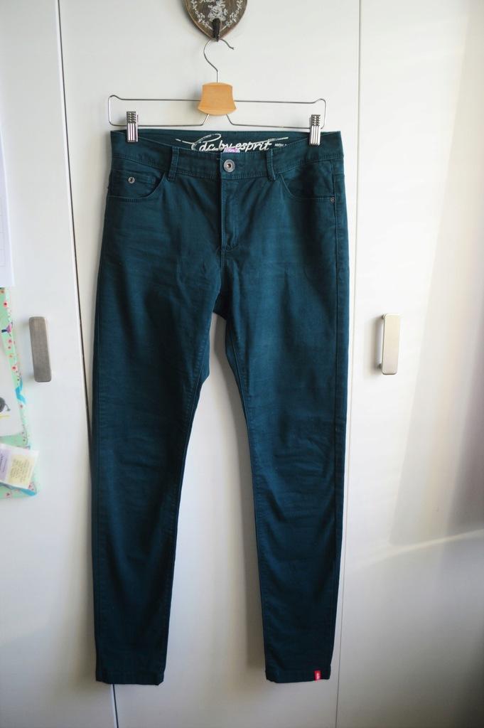 ESPRIT spodnie rurki butelkowa zieleń M modne